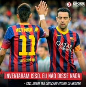 Xavi e Neymar