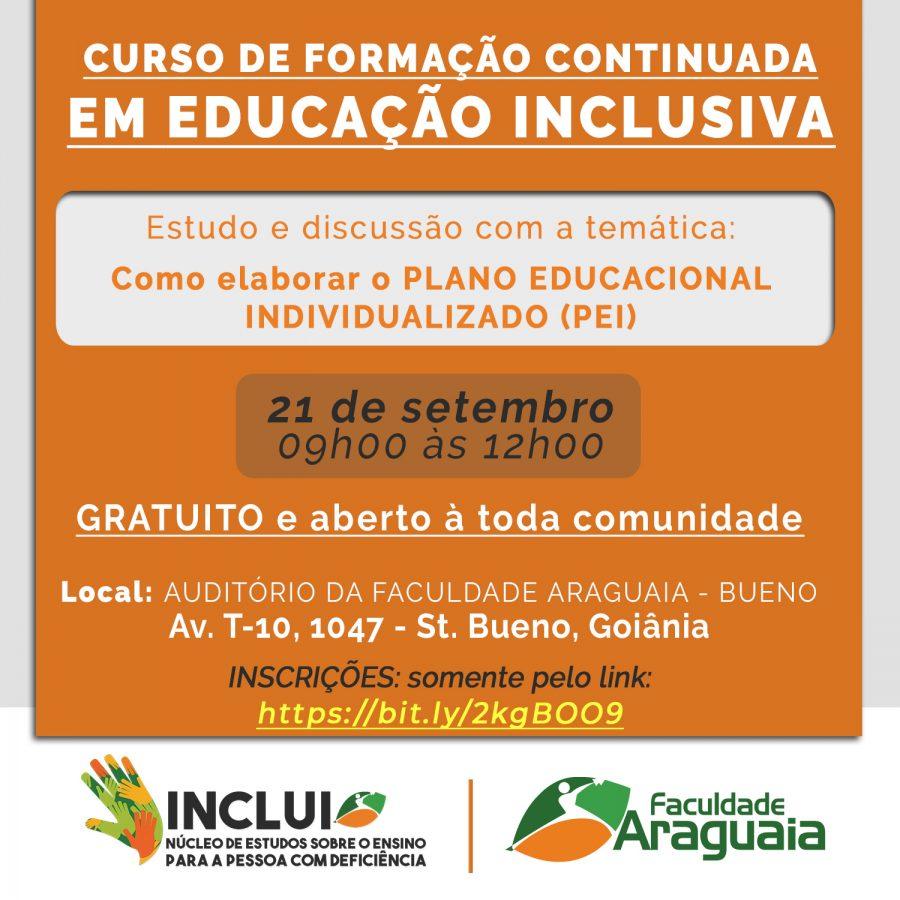 Faculdade Araguaia realiza formação em educação inclusiva