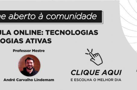 UniAraguaia oferece curso de extensão gratuito em Tecnologia e Metodologias Ativas