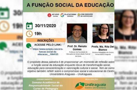 Semana Acadêmica de Responsabilidade Social do curso de Pedagogia