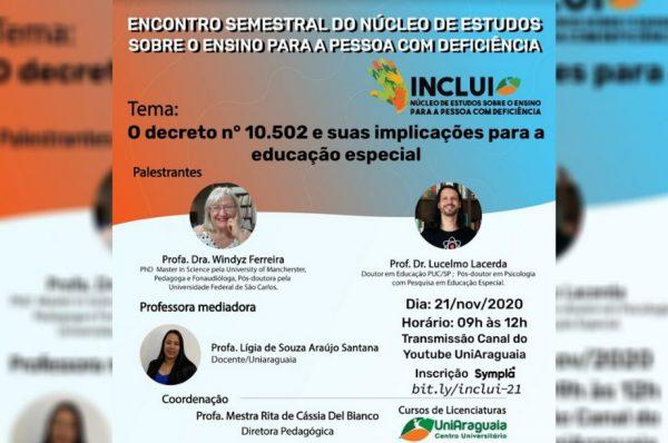 INCLUI debate a nova política nacional de educação especial