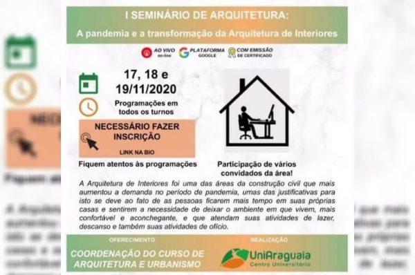 Coordenação do Curso de Arquitetura e Urbanismo promove I Seminário de Arquitetura