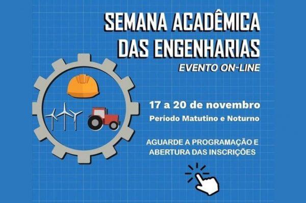 Começa amanhã a Semana Acadêmica das Engenharias