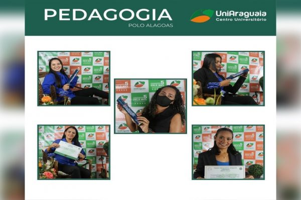 Curso de Pedagogia da UniAraguaia realiza solenidade de formatura de discentes do Estado de Alagoas