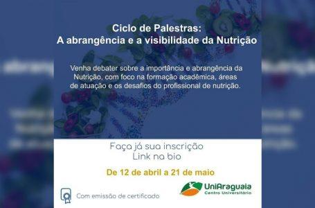 Ciclo de Palestras do curso de Nutrição continua até 21 de maio