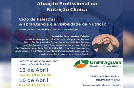 Curso de Nutrição promove Ciclo de Palestras