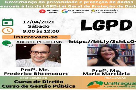 Curso de direito da UniAraguaia promove palestra sobre privacidade e proteção de dados