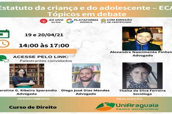 Curso de Direito da Uniaraguaia realiza discussão sobre o ECA