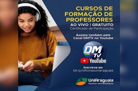 Parceria da UniAraguaia com o Jornal Diário da Manhã disponibiliza oficinas de formação de professores no DMTV