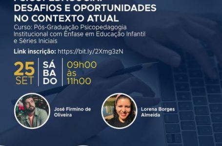 UniAraguaia realizará aula gratuita da pós-graduação de Psicopedagogia