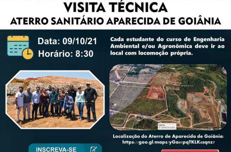 Cursos de Engenharia Ambiental e Engenharia Agronômica fazem visita técnica ao Aterro Sanitário de Aparecida de Goiânia