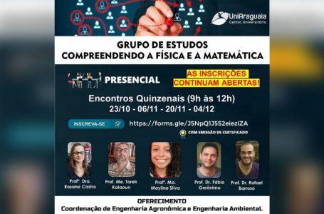 Cursos de Agronomia e Engenharia Ambiental abrem grupo de estudos abordando física e matemática